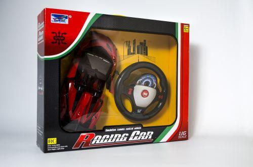 Радиоуправляме количка с дистанционно и отварящи се врати (червена)