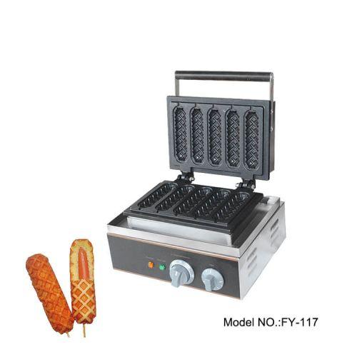 Електрически гофретник за хот-дог на клечка